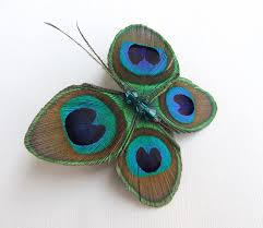 butterfly peacock feather hair accessories butterfly hair clip