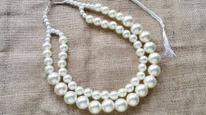 pearls necklace making images How to create an elegant pearl necklace diy beauty tutorial jpg