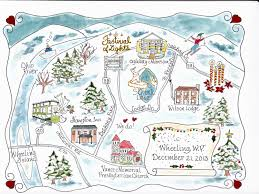 Map Wedding Invitations Custom Wedding Map Watercolor Map Hand Drawn Map