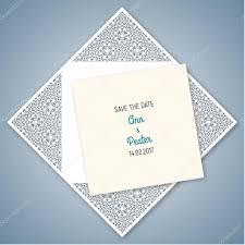 wedding invitation with geometric pattern cut laser square enve