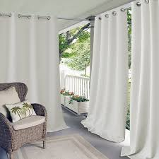 Single Panel Window Curtain Designs Amazon Com Elrene Home Fashions 20865elr Connor Indoor Outdoor