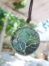 art glass necklace pendant images Tree of life pendant stained glass necklace by tocasol on zibbet jpg