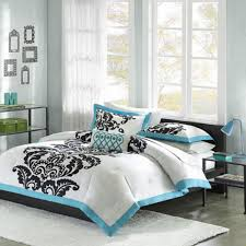 teen girls twin bedding kids bedding white teal u0026 black teen girls twin comforter sham