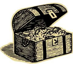 chest clipart pile treasure pencil and in color chest clipart