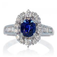 oval sapphire engagement rings oval ceylon sapphire halo solitaire engagement ring