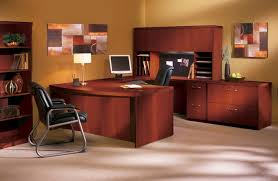 mayline at10l aberdeen u shaped desk with hutch and lateral file