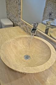Powder Room Sink Beautiful Waterfall Faucetin Bathroom Transitional With Appealing