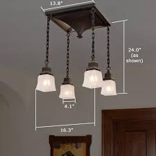 Arts And Crafts Ceiling Lights by Golden Gate Four Light Provides Interior Lighting For Arts