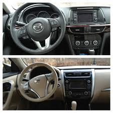 nissan altima 2013 interior comparison 2014 mazda6 gt skyactiv vs 2013 nissan altima 2 5 sv