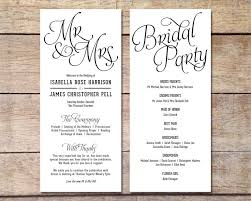 Wedding Ceremony Bulletin Template How To Design Wedding Program Template Wedding Program Template