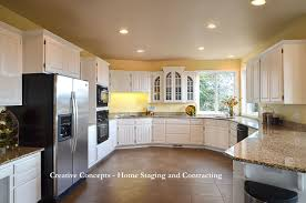 staging before and after kitchen excellent painted white oak kitchen cabinets before and