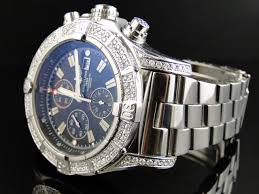 bentley breitling diamond custom breitling super avenger 48 mm diamond watch