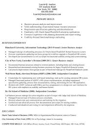 Senior Business Analyst Resume Sap Functional Consultant Sample Resume Entertainment Security