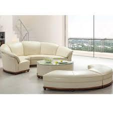 canape forme ronde dernières forme ronde canapé en blanc cassé en cuir assemblé avec