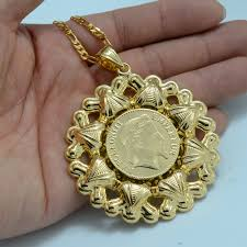 coin pendant necklace jewelry images Anniyo 6cm napoleon coin pendant necklace gold color copper arab jpg