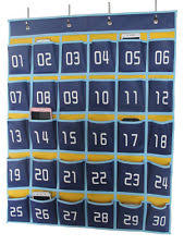 Hanging Organizer Numbered Classroom Organizer Pocket Chart For Cell Phones