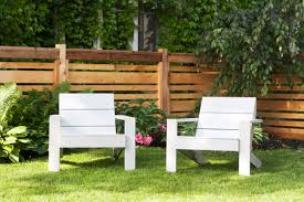 Painted Wooden Patio Furniture New White Outdoor Chairs