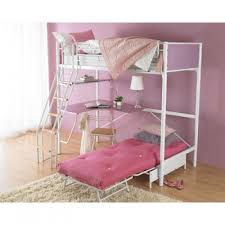 Single Bunk Bed With Desk White Single Bunk Bed Metal With Desk L Shaped Girls Sleeper
