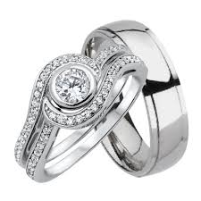his and hers wedding ring sets his and wedding rings set sterling silver hers titanium