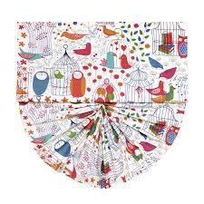 Kids Roman Shades - chic owal pattern multi color fan shaped kids roman shades