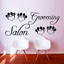 online buy wholesale paw wall stickers from china grooming salon heart shaped paw print wall sticker diy removable home decor for pet shop