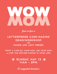 power and light press letter press card making demo workshop with power and light press