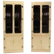 Display Hutch Pair Of Mid Century Modern Tall Display Cabinets For John Stuart