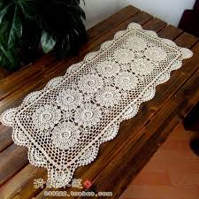 Cover Coffee Table 2017 New Arrival Flower Tea Coffee Table Runner 100 Three