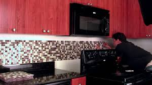 red tile backsplash kitchen do it yourself backsplash peel u0026 stick tile kit youtube