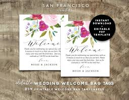 it s your special day plate editable wedding welcome bag tags wedding hotel bag letter
