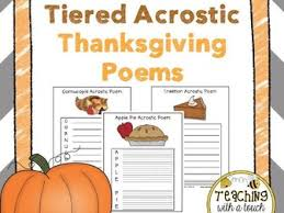 thanksgiving acrostic poems tiered writing templates by