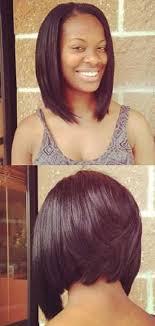 very short in back and very long in front hair bobs back view for black women deirdre pinterest black women