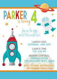 space rocket birthday party invitations astronaut invitations