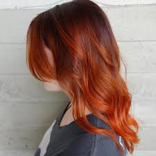 copper colormelt balayage ombre orange hair shurie hair