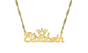 Custom Name Necklace Gold Personalized Name Necklace Monogramhub Groupon