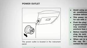 2012 nissan cube power outlet youtube