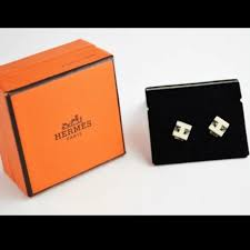 h earrings hermes jewelry cube h earrings 100 authentic poshmark