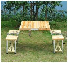 portable folding picnic table outsunny portable folding wooden outdoor c suitcase picnic table