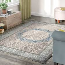 Gray Blue Area Rug Farmhouse Rugs Birch