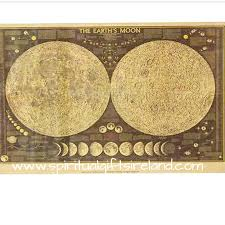Moon Map Moon Lover Vintage Style Moon Map Spiritual Gifts Ireland