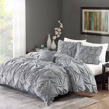 Comforter King Size Bed Ruched Bedding Set Gray King Size Bed Duvet Comforter U0026 Shams 4