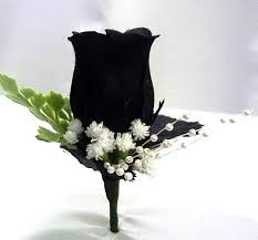 corsage and boutonniere set black corsage black boutonniere black wedding silk