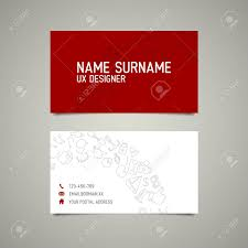 modern simple business card template for ux designer or web