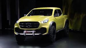 mercedes pickup truck previewing the new mercedes benz concept x class pickup truck