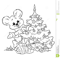 christmas ornament coloring pages christmas teddy bear tree