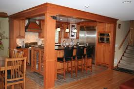 maple wood dark roast prestige door quarter sawn oak kitchen