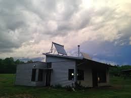modern off grid prefab house contemplates the zombie apocalypse