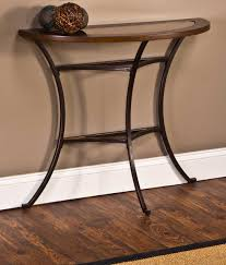 Glass And Metal Sofa Table Hillsdale Montclair Console Table Wood Border With Mirrored