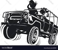 beach jeep clipart russian jeep silhouette royalty free vector image