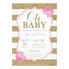 gold and pink baby shower pink white and gold baby shower invitations sempak 62bc7ea5e502